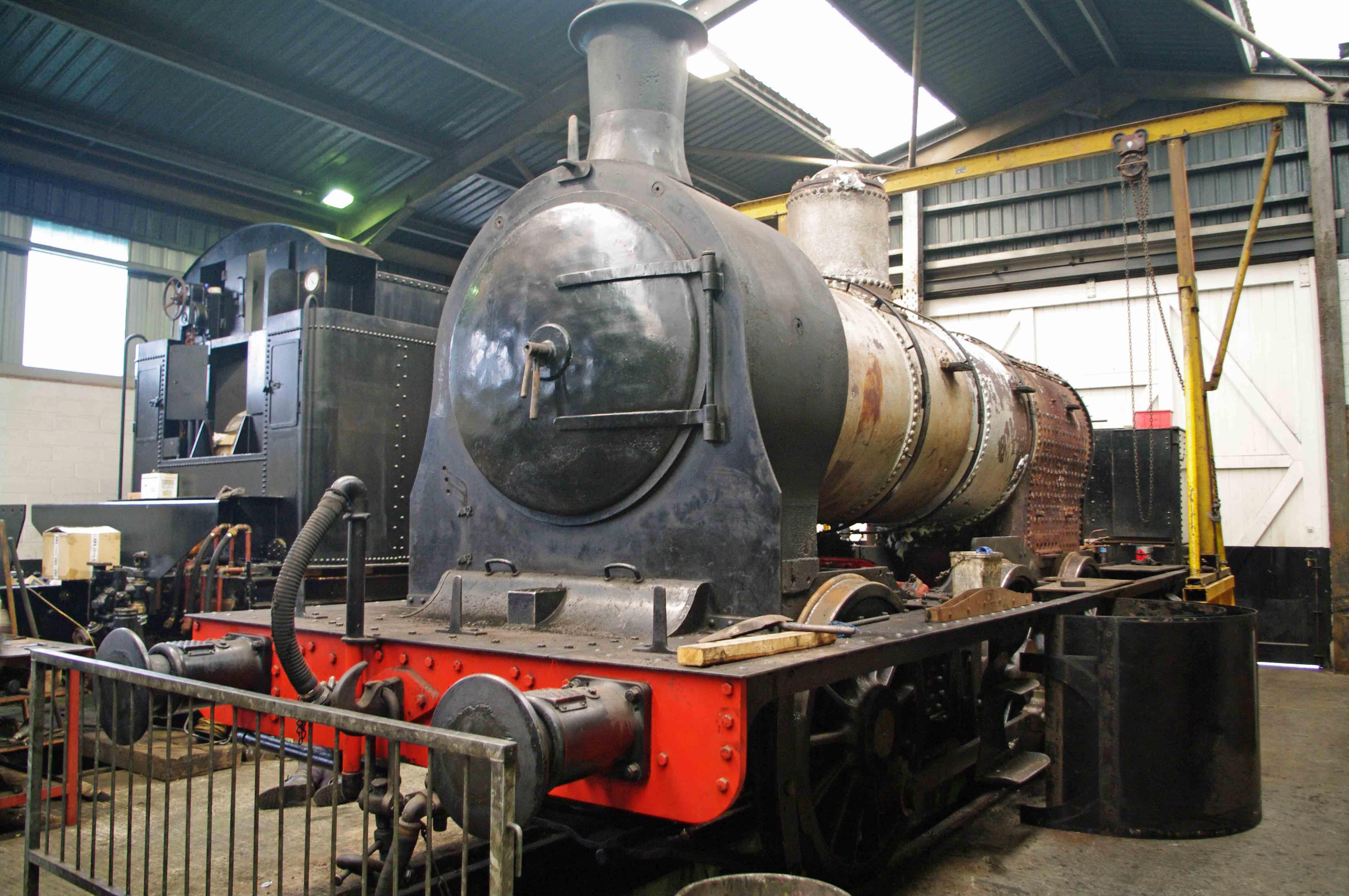 85 under restoration at Haworth - 2010.jpg