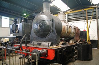 85 under restoration at Haworth - 2010.jpg