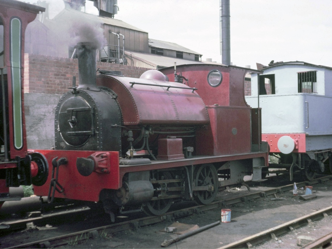 68153 behind  2702 Bagnall 0-4-0ST Middleton Rly July 1966.jpg