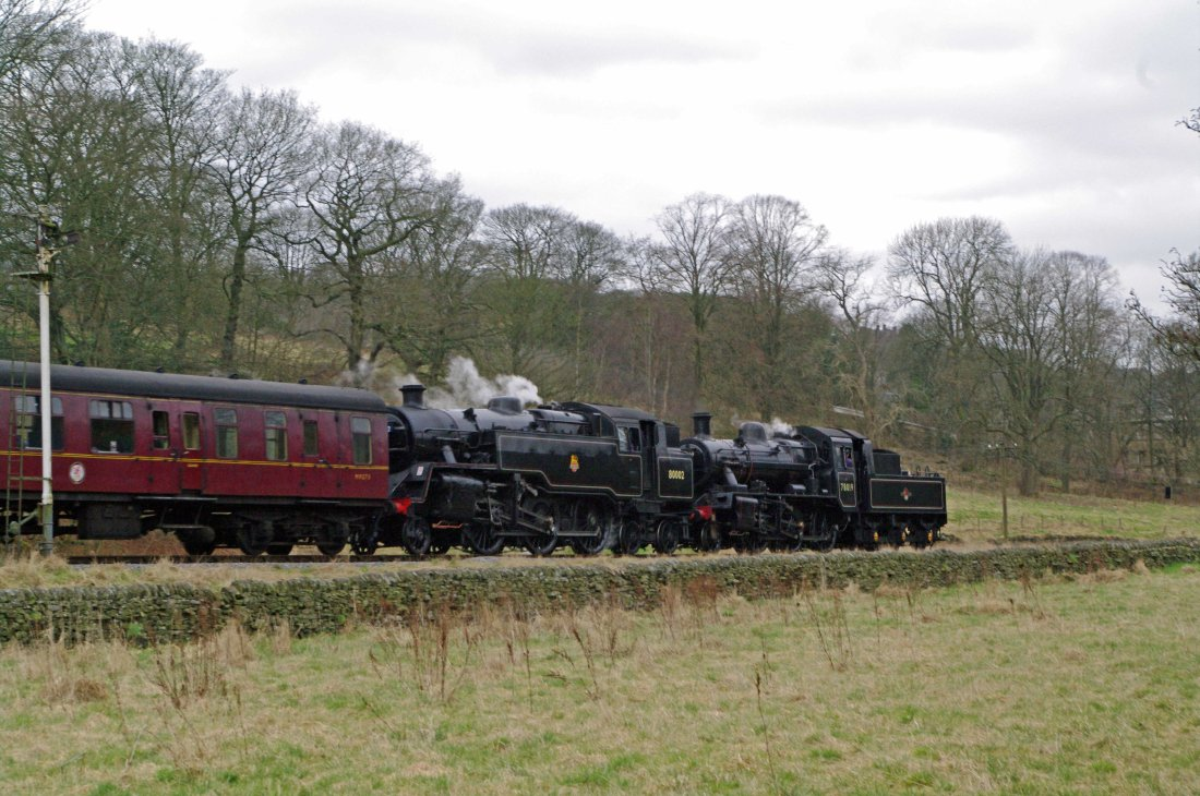 80002 with 78019 approaching Haworth-2013.jpg