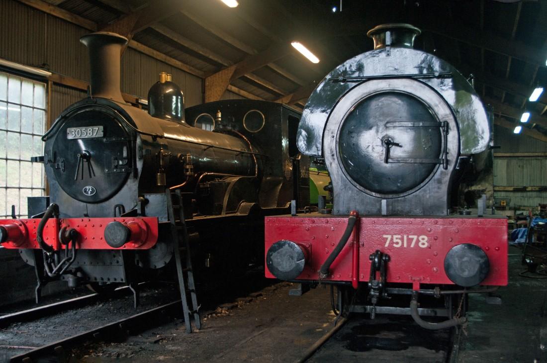 42082-Bodmin & Wenford Railway-Bodmin General-2018-30587 & 75178 Bagnall 2766