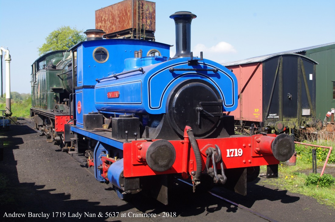 East Somerset Railway-Cranmore-2018-Andrew Barclay 1719 Lady Nan.jpg