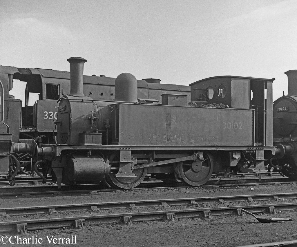 30102 at Eastleigh - October 1962.jpg