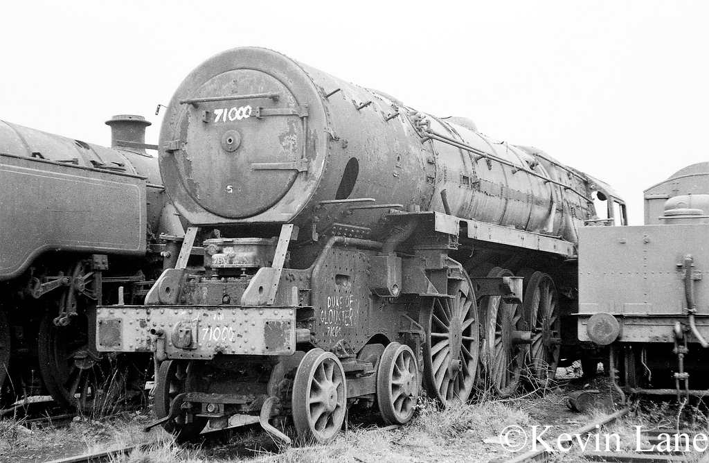 71000 Duke of Gloucester in the scrapyard at Barry - March 1972.jpg