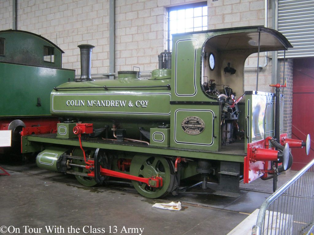 Andrew Barclay 1223 in Brownhills shed on the Chasewater Railway - August 2017.jpg