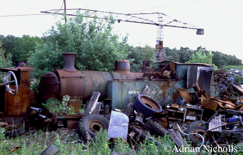 Andrew Barclay 1245 at at Thomas Muir's Easter Balbeggie scrapyard - June 1993.jpg