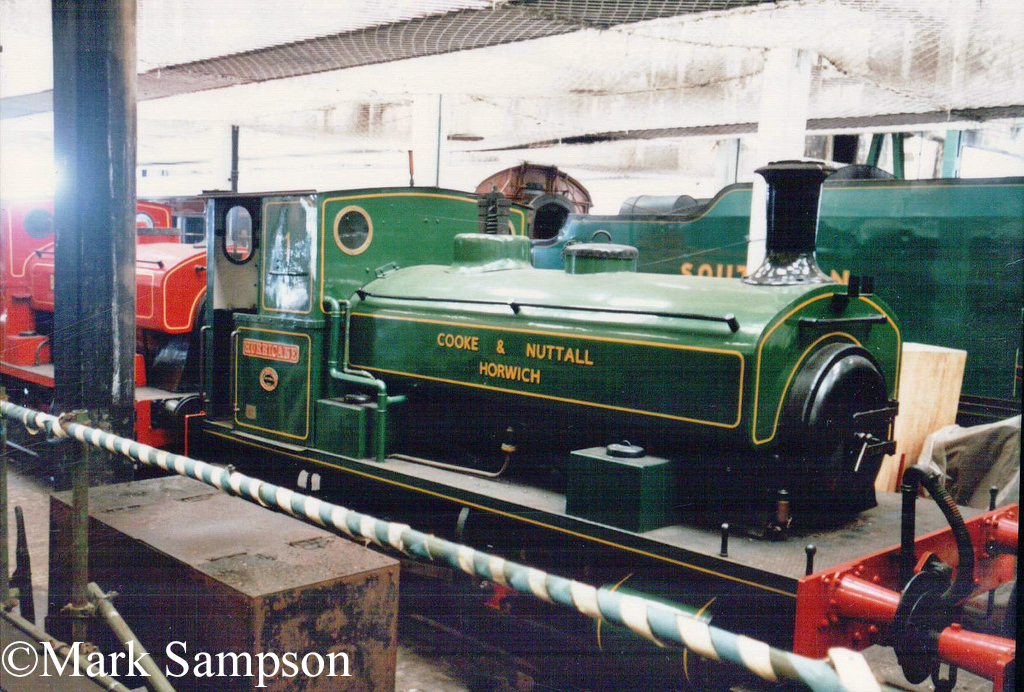 Andrew Barclay 2230 at Steamtown, Carnforth - July 1989.jpg