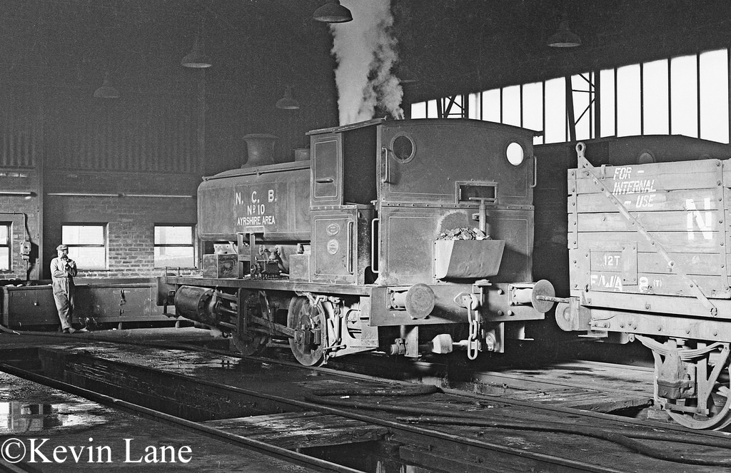 Andrew Barclay 2244 in the shed at Dunaskin on the NCB's Waterside system in Ayrshire - January 1978.jpg