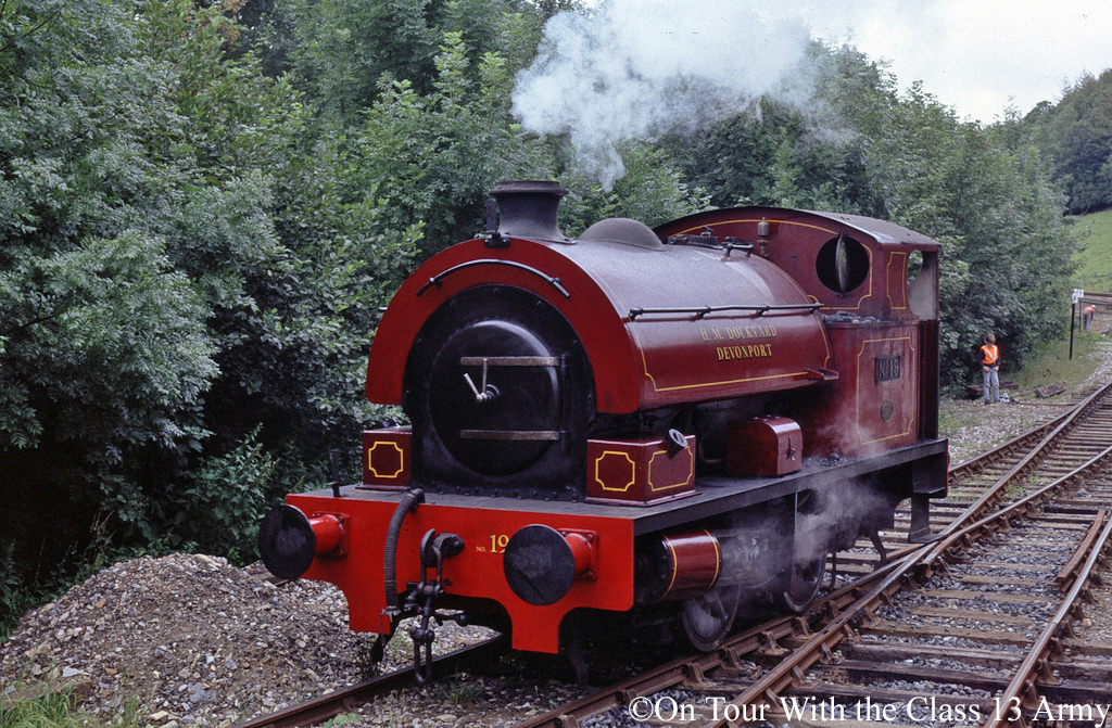 Bagnall 2962 on the Bodmin & Wenford Railway - August 1990.jpg