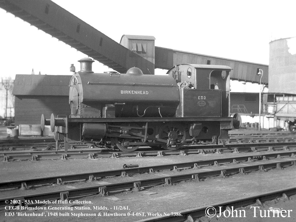 ED3 Birkenhead  Stephenson & Hawthorh 7386 at CEGB Brimsdown Generating Station - February 1961.jpg