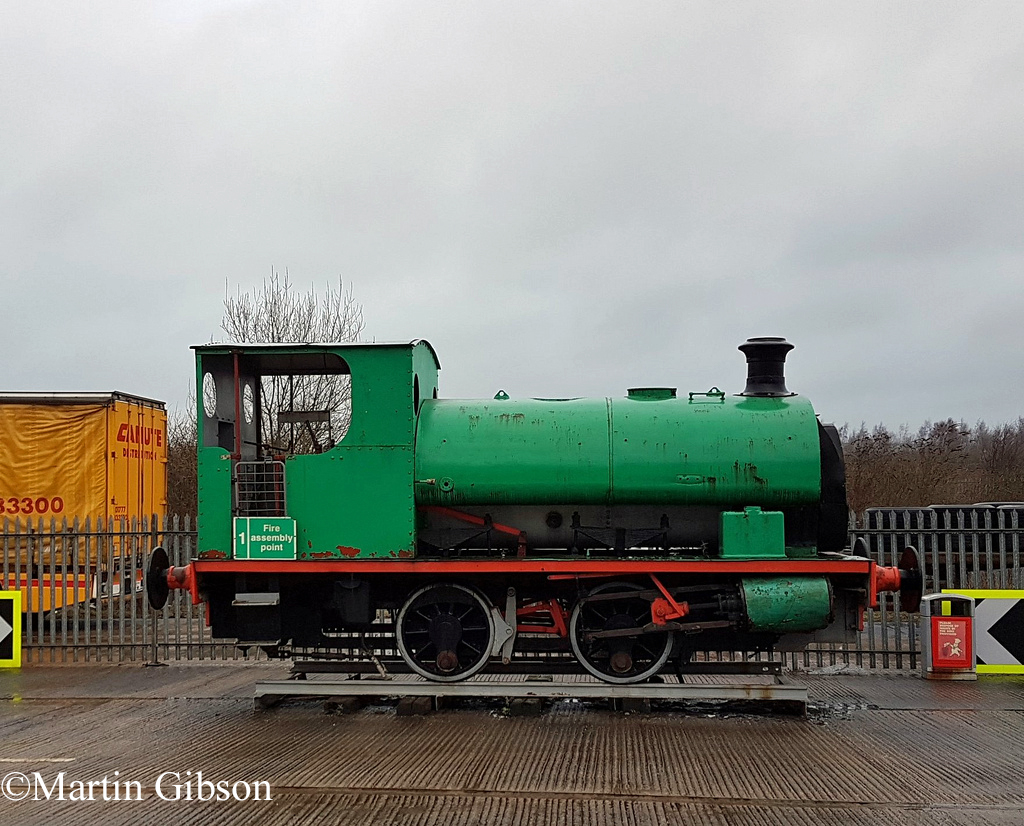 Hudswell Clarke 1689 on static display outside the South Yorkshire Transport Museum - March 2018.jpg