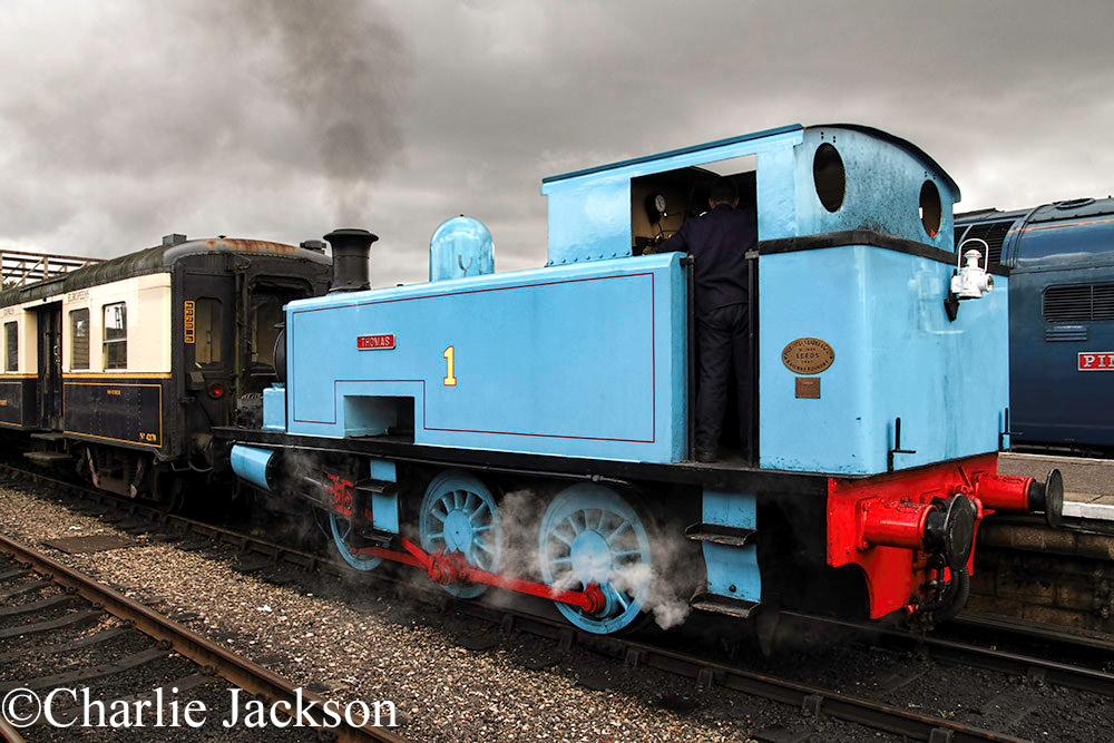 Hudswell Clarke 1800 as No 1 Thomas on the Nene Valley Railway - August 2016.jpg