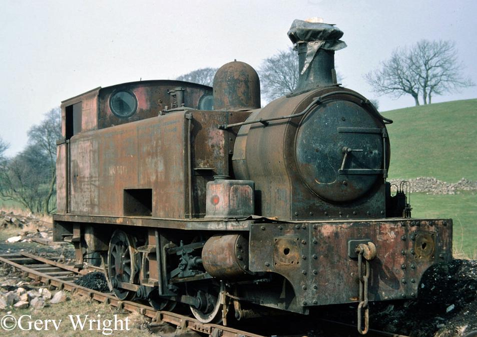 Hudswell Clarke 1821 on the Yorkshire Dales Railway - April 1976.jpg