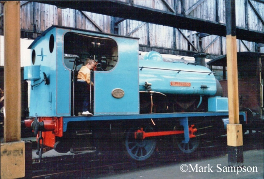 Hudswell Clarke 750 at Steamport, Southport - September 1988.jpg