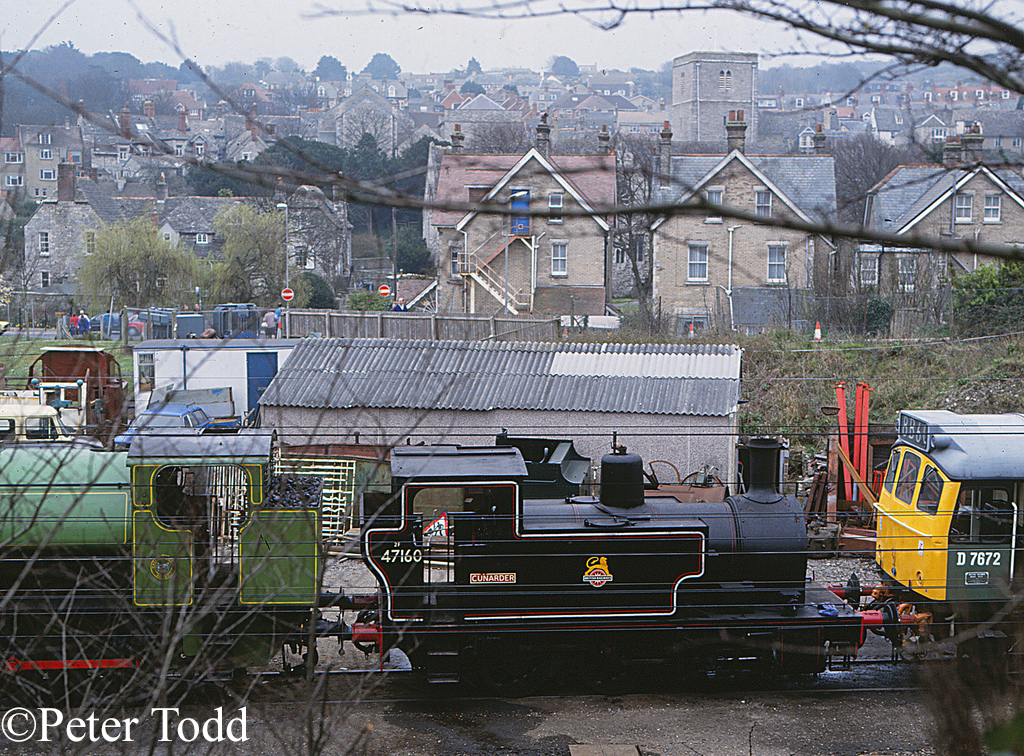 Hunslet 1690 at Swanage - March 1993 .jpg