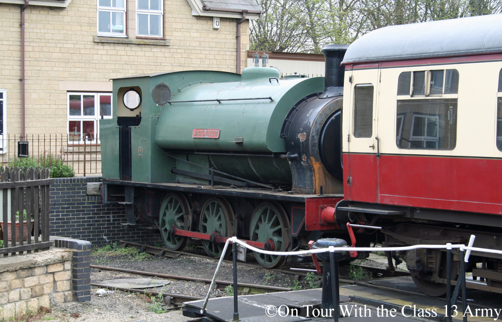 Hunslet 1953 in store at wansford on the Nene Valley Railway - April 2015.jpg
