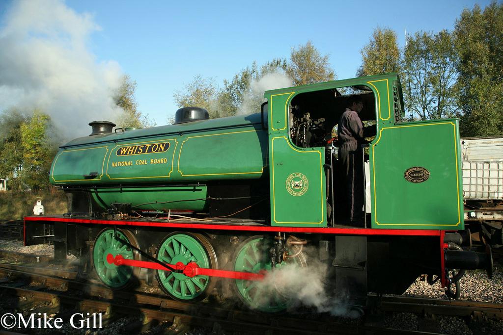 Hunslet 3694 Caverswall Foxfield Railway Oct 2011.jpg