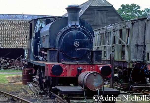 Kitson 5469 at South Cambridgeshire Railway, Heydon - 1991.jpg
