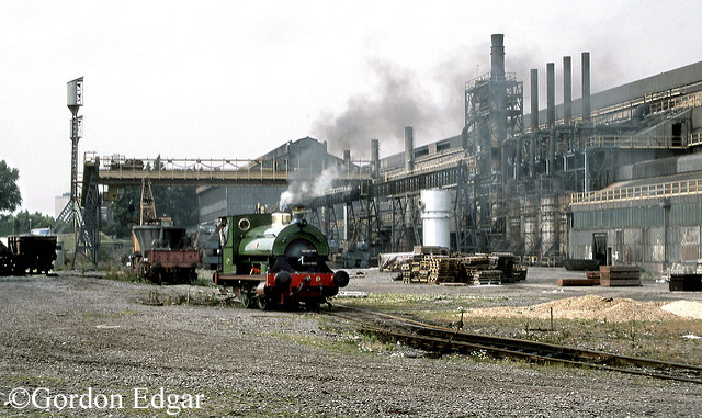 Peckett 1159 Heavy Section Mill at British Steel Appleby-Frodingham Works, Scunthorpe - September 1994.jpg