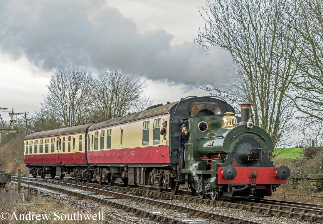 Peckett 1163 Swanwick Jct Jan 2016 with copyright