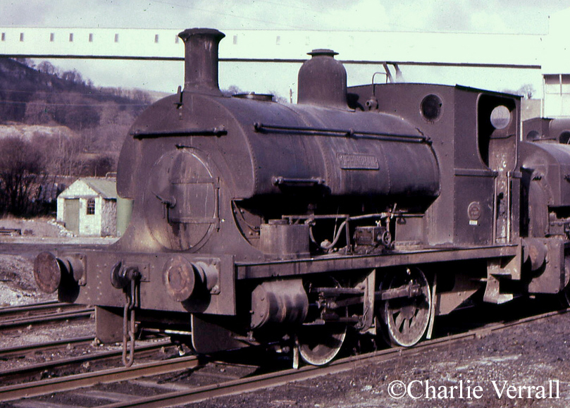 Peckett 1257 at Bowne & Shaw Ltd - February 1965.jpg