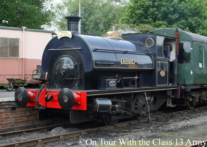 Peckett 1722 at Horsehay & Dawley station on the Telford Steam Railway - May 2014 - Second.jpg