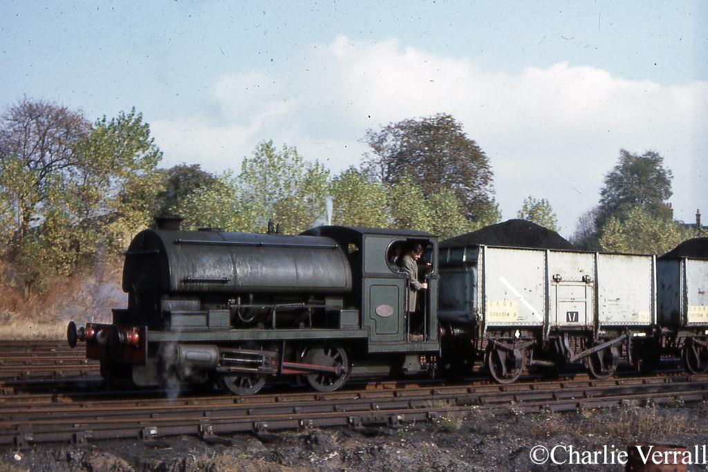 Peckett 2103 at CEGB Waddon B - October 1964.jpg