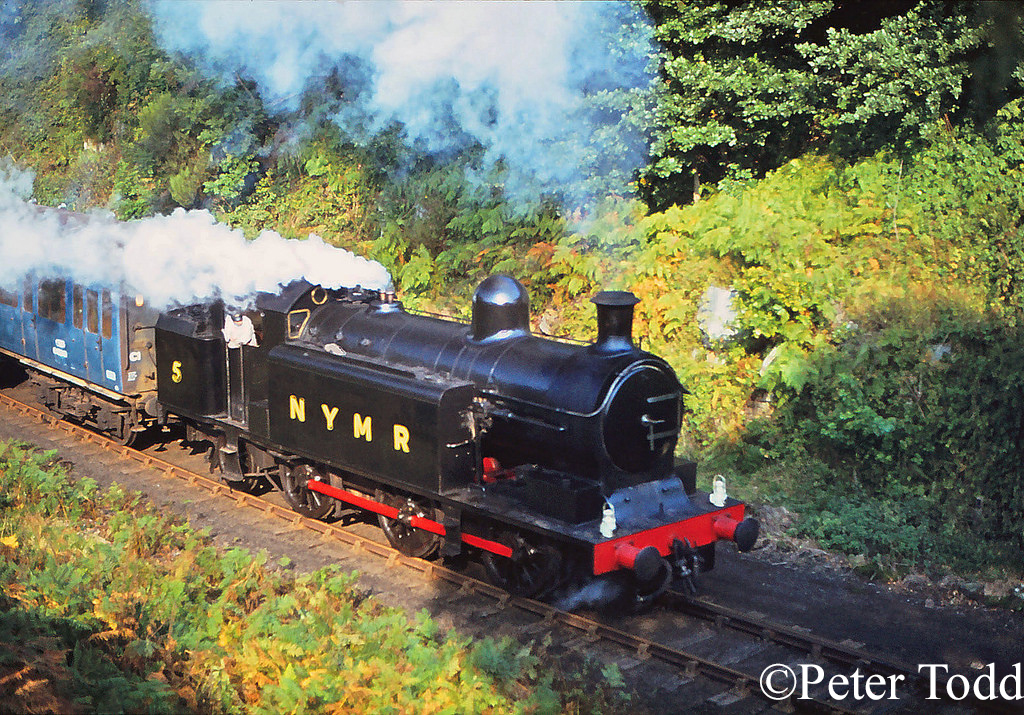 Robert Stephenson 3377 approaching Goatland on the North Yorkshire Moors Railway - October 1978.jpg