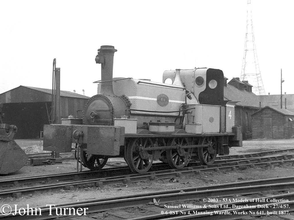 Samuel Williams & Sons Manning Wardle 641 at Dagenham Docks April 1957.jpg