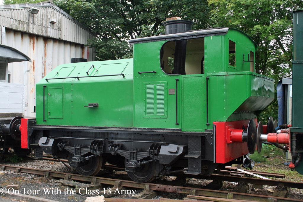 Sentinel 9535 at Caverswall Road on the Foxfield Railway - July 2014.jpg