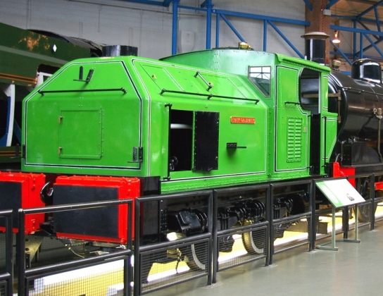 Sentinel 9629 in the National Railway Museum at York - 2005.jpg
