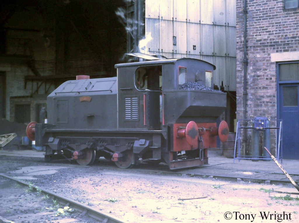 Sentinel 9631 at Tennant's Foundry, Coatbridge - August 1977.jpg