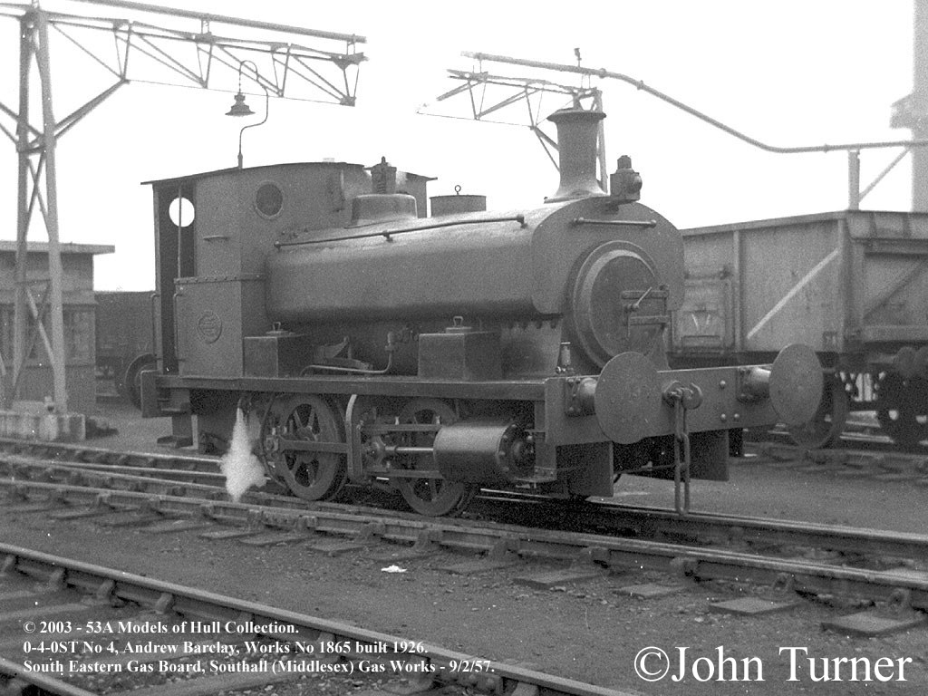 South Eastern Gas Board No 4 - Andrew Barclay 1865 at Southall Gas Works - February 1957.jpg