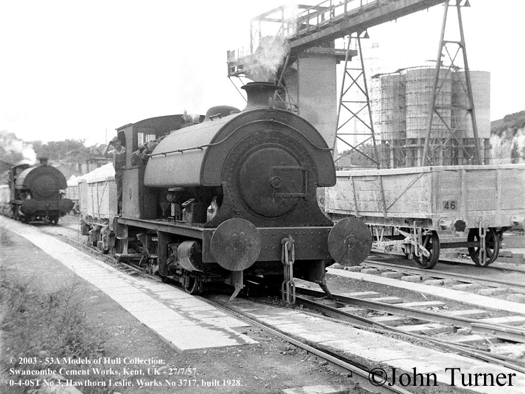 Swanscombe Cement Works Hawthorne Leslie 3717 Northfleet - July 1957.jpg
