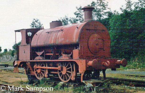 0-4-0ST at Steamtown, Carnforth - July 1989 - Sharp, Stewart & Co - Furness Railway No 25.jpg