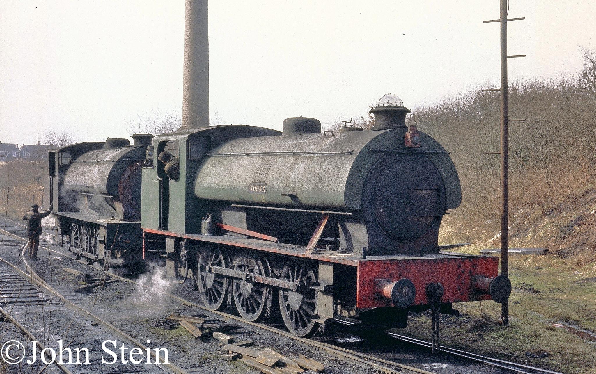 Hunslet 3770 (in front) at Graig Methyr.jpg