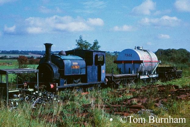 Hunslet 469 at Wittersham Road on the Kent & East Sussex Railway - September 1974.jpg