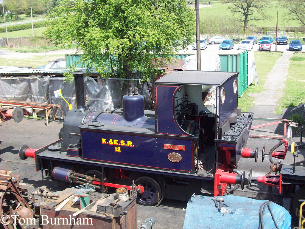 Peckett 1631 at Rolvenden on the Kent & East Sussex Railway - May 2013.jpg