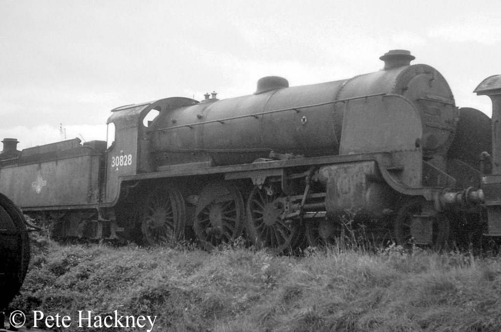 30828 in Woodham's scrapyard at Barry - October 1968