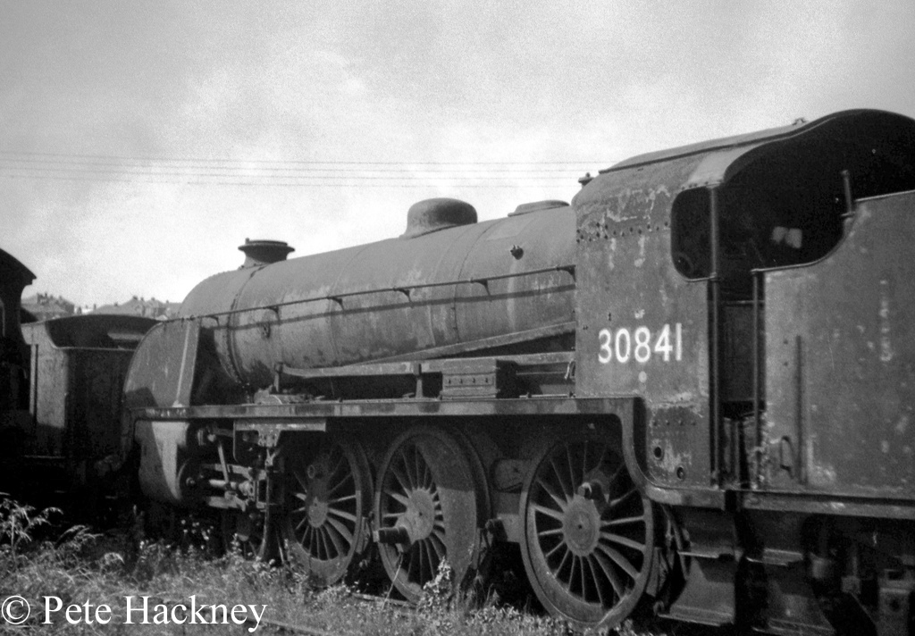30841 in Woodham's scrapyard at Barry - July 1968
