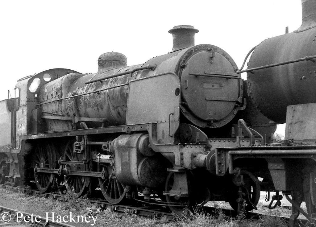 31874 in Woodham's scrapyard at Barry - October 1968