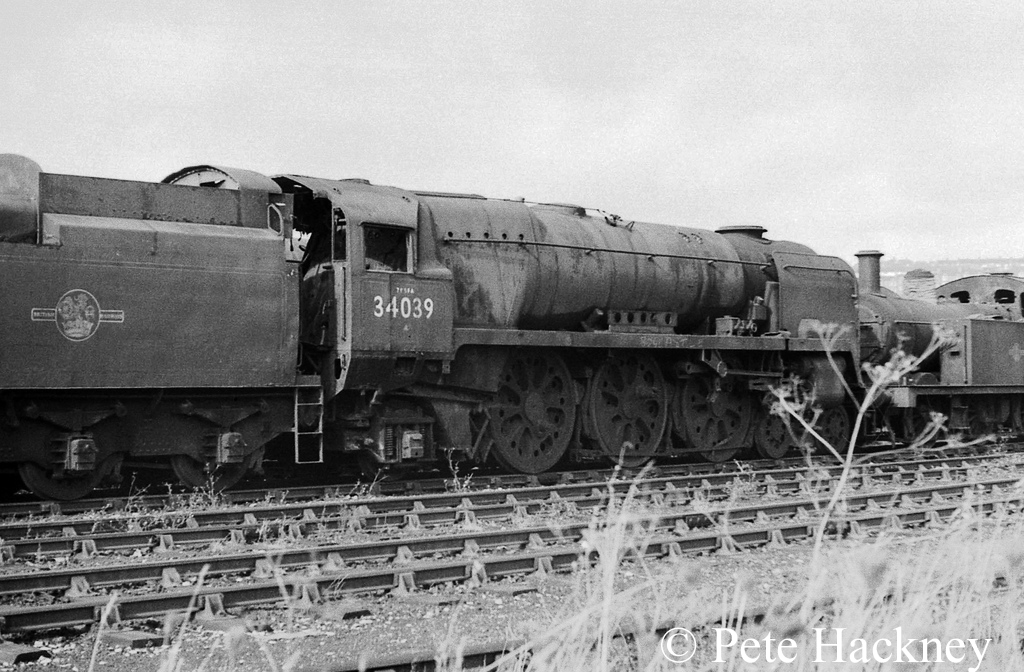 34039 Boscastle in Woodham's scrapyard at Barry - October 1968.jpg