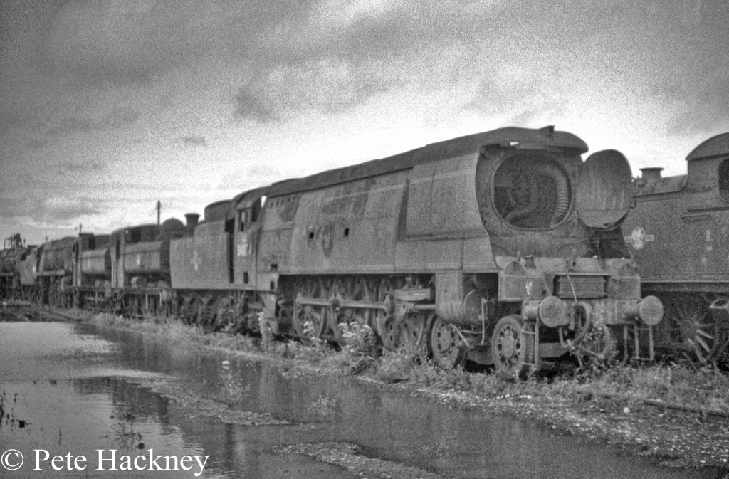 34070 Manston in Woodham's scrapyard at Barry - July 1968.jpg