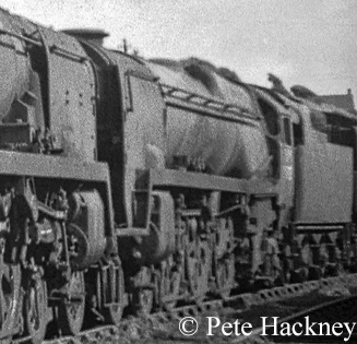 35022 Holland America Line in Woodham's scrapyard at Barry - July 1968