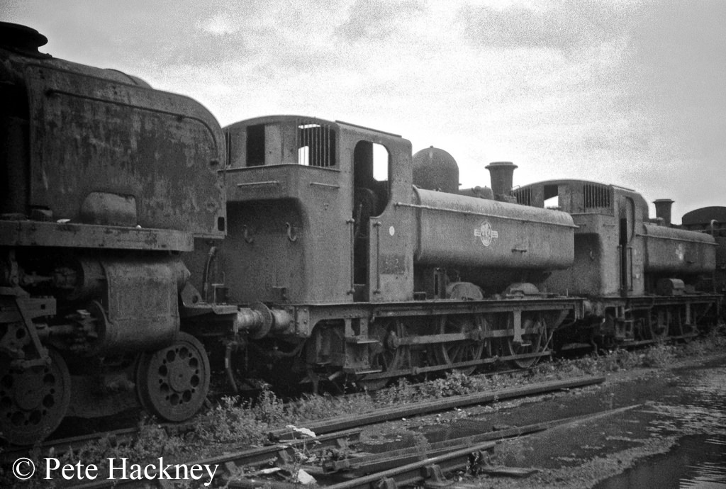 3612 and 9629 in Woodham's scrapyard at Barry - July 1968