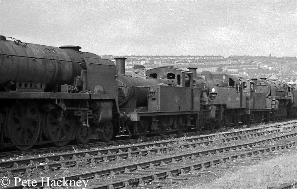 47357, 41312 and 47327 in Woodham's scrapyard at Barry - October 1968 .jpg