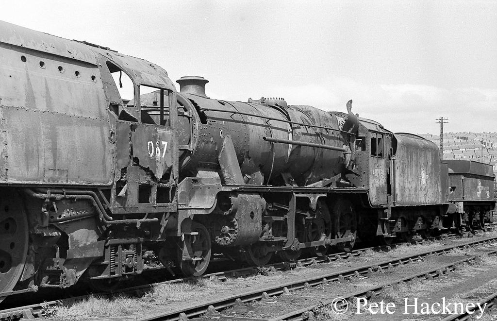 48173 in Woodham's sctrapyard at Barry - 1975