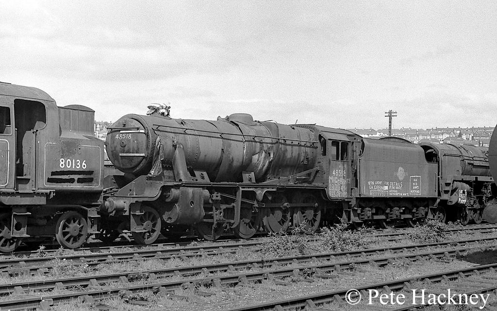 48518 in Woodham's scrapyard at Barry - 1975.jpg