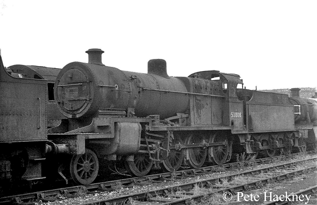 53808 in Woodham's scrapyard at Barry - October 1968