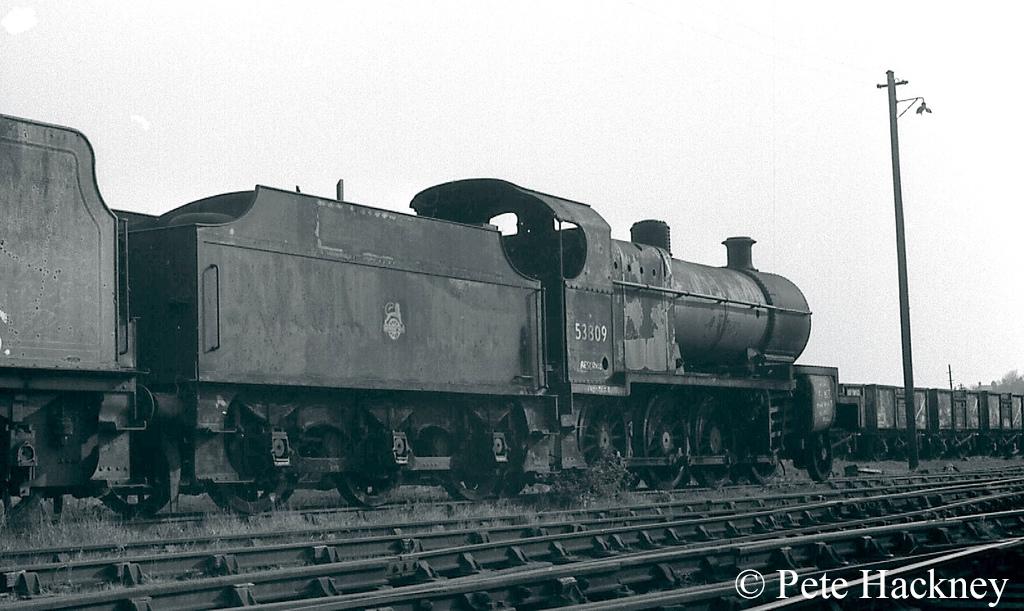 53809 in Woodham's scrapyard at Barry - 1973.jpg